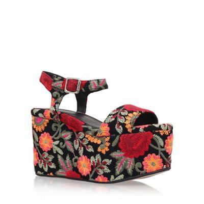 KG Kurt Geiger - Black 'Maxie' high heel wedge sandals