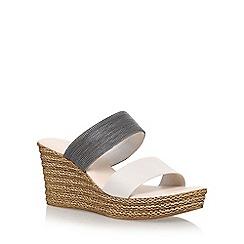 Carvela Comfort - Brown 'Sybil' high heel wedge sandals