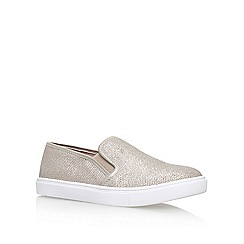 Carvela - Silver 'Jumo' flat slip on sneakers