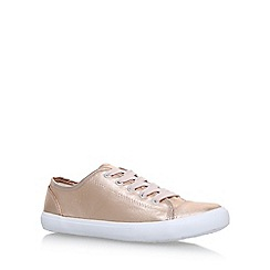 Miss KG - Gold 'Kali' flat lace up sneakers
