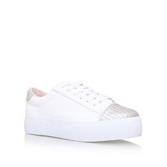 Miss KG - White Kamille flat lace up sneakers