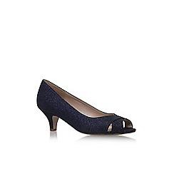 Solea - Blue 'Annabel' mid heel peep toe shoes