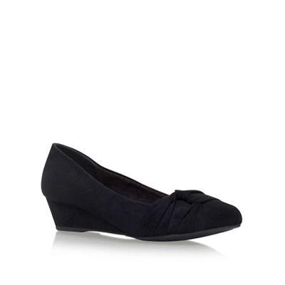 Miss KG - Black 'Carole' low heel wedge pumps