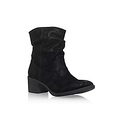 Miss KG - Black 'Travis' low heel biker boots