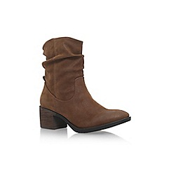 Miss KG - Brown 'Travis' low heel biker boots