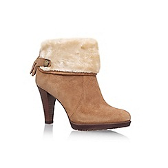 58958_7711347269: Brown Teamy Hight Heel Ankle Boots