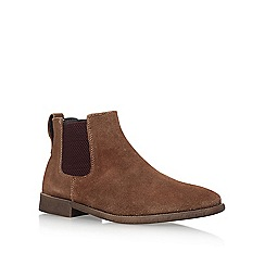 KG Kurt Geiger - Brown 'Guildford' Flat Chelsea Boots