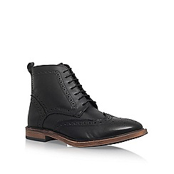 KG Kurt Geiger - Black 'Boston' flat lace up boots