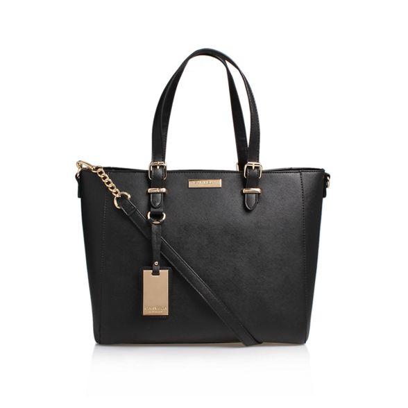Carvela With Tote Shoulder Black Handbag Winged 'Dina' Straps n8wqvz8p6x