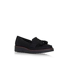 Carvela - Black 'Limbo' flat slip on loafers
