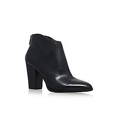 58958_7840900109: Black Barin High Heel Zip Up Ankle Boot