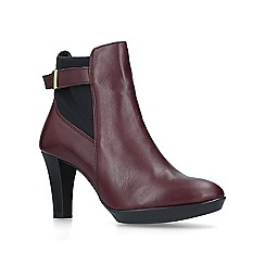 Carvela Comfort - Wine 'Rae' leather ankle boots
