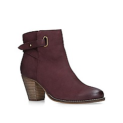 Carvela - Wine 'Smart' leather ankle boots