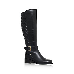 Carvela - Black 'Polished' flat knee high boot