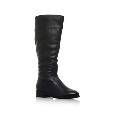 Carvela - Black 'Tock' low heel knee boots