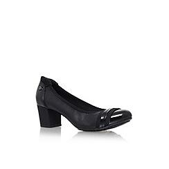 Anne Klein - Black 'Guardian' low heel court shoes