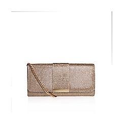 Miss KG - Gold 'Talia' clutch bag