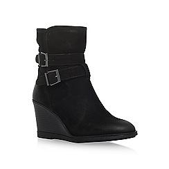 KG Kurt Geiger - Black 'Rhona' mid heel wedge boot