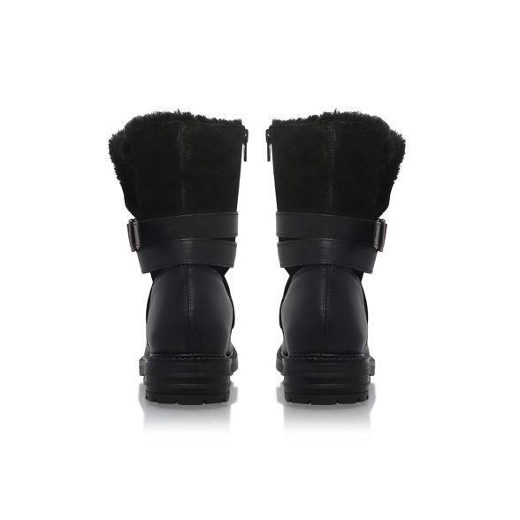 'Soldier' KG Kurt Black Geiger boot flat calf FF0atxH