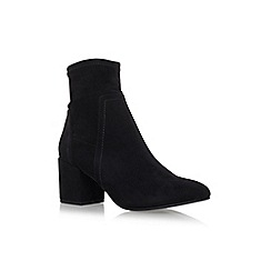 Miss KG - Black 'Jemima' mid heel zip up ankle boot