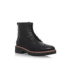 Carvela - Black 'Snail' flat lace up ankle boot