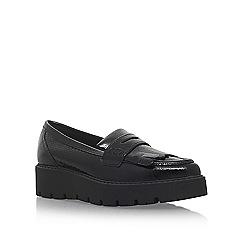 KG Kurt Geiger - Black 'Kompton' flat slip on loafers