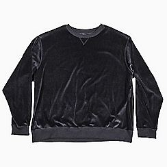 MVP Collections - Big and tall black velour sweatshirt