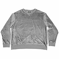 MVP Collections - Big and tall dark grey velour sweatshirt