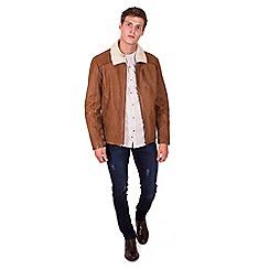 Steel & Jelly - Tan leather shearling jacket