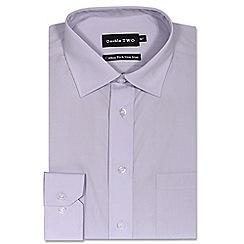Double Two - Lilac cotton rich non-iron shirt