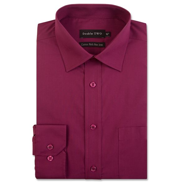 rich Double iron non Two shirt cotton Wine qaa0g64
