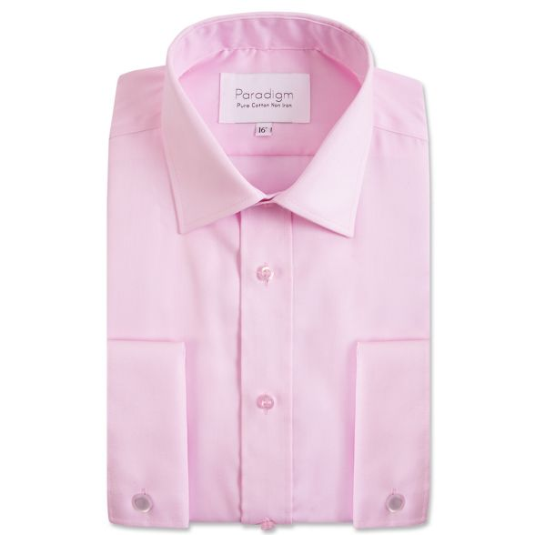 double Big light and tall cuff cotton pink shirt Double Two aYTqHwO