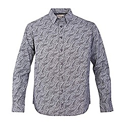 Bar Harbour - Big and tall black paisley print casual shirt