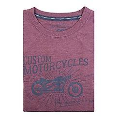 Bar Harbour - Purple custom motorcycles print t-shirt