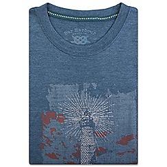 Bar Harbour - Big and tall blue lighthouse print t-shirt