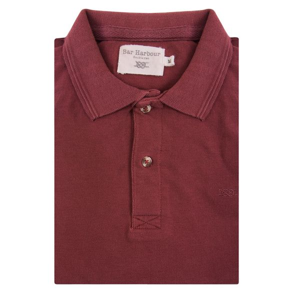 knot Red shirt Harbour cotton Bar polo T0nAHqTa