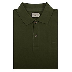 Bar Harbour - Big and tall green knot cotton polo shirt