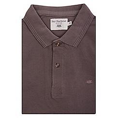 Bar Harbour - Brown knot cotton polo shirt