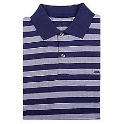 Bar Harbour - Big and tall blue stripe cotton polo shirt