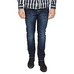 Mish Mash - Big and tall navy straight fit stretch dark denim jeans