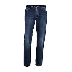 Mish Mash - Big and tall navy straight fit dark denim jeans