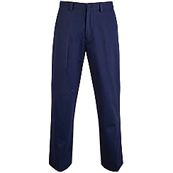 Bar Harbour - Big and tall navy straight leg chino trousers