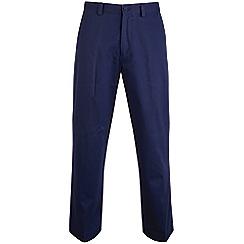 Bar Harbour - Navy straight leg long length chino trousers