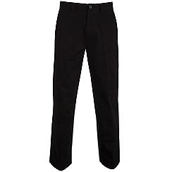 Bar Harbour - Black straight leg long length chino trousers