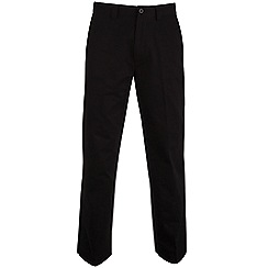 Bar Harbour - Big and tall black straight leg long length chino trousers