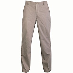 Bar Harbour - Big and tall beige straight leg chino trousers