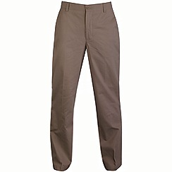 Bar Harbour - Taupe straight leg long length chino trousers
