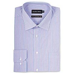 Double Two - Purple trio stripe formal shirt