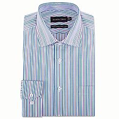 Double Two - Purple stripe formal shirt