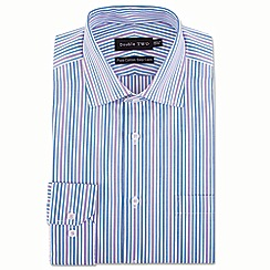 Double Two - Big and tall purple stripe formal shirt